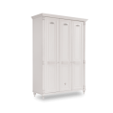 Dulap cu 3 usi, pentru copii si tineret Romantic White, 140x58x203 cm